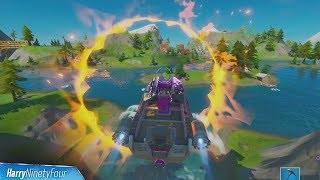 Jump a Motorboat Through Different Flaming Rings All Locations - Fortnite Challenge