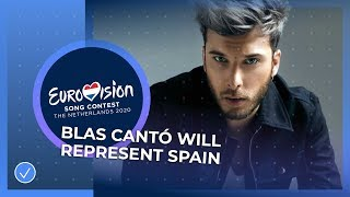 Blas Cantó will represent Spain in Rotterdam! - Eurovision Song Contest 2020