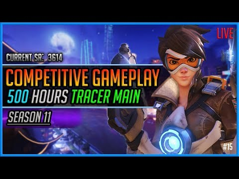 Overwatch Season 11: Tracer Main Competitive Gameplay Live! #15