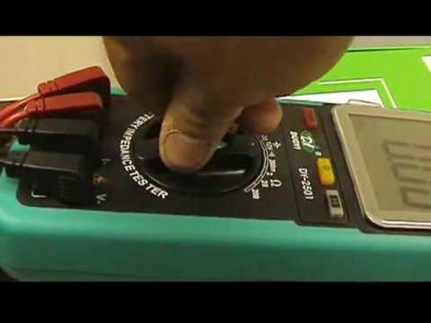 multimtre testeur de batteries calcul de la rsistance in