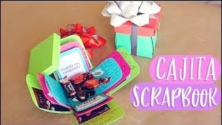 Cajita Scrapbook // Carta + Regalo Original  [exploding Box]