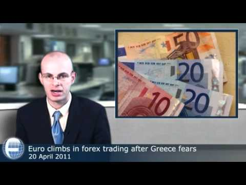 Euro climbs in forex trading after Greece fears