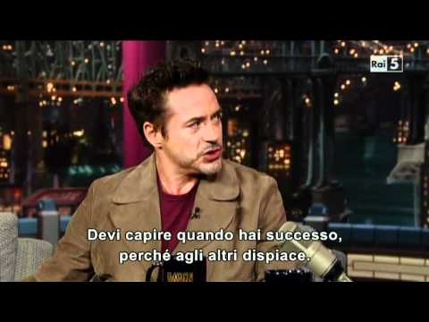 Robert Downey Jr. al David Letterman Show