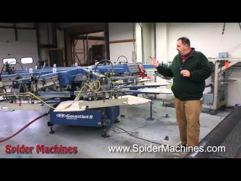 Buying a Used Screen Printing Press - M&R Gauntlet II - Robert Barnes - Spider Machines