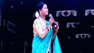 The Most Beautiful Jatra Anchor Shrabani in Jatra Samrat Tulasi gananatya Melody Program.