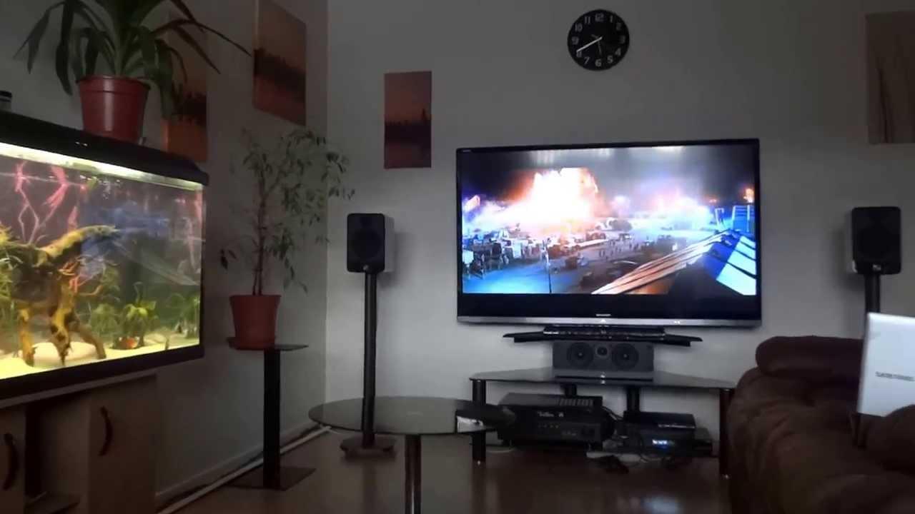 Yamaha Surround Sound System Acoustics 7.1 surround sound set up. - YouTube
