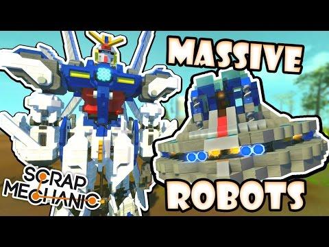 Scrap Mechanic CREATIONS! - WORLD'S BIGGEST ROBOT?!! [#26] W/AshDubh   Gameplay  