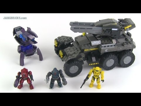 Mega Bloks Halo UNSC Anti-Armor Cobra set review!