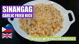 How to make Garlic Fried Rice - Sinangag - Filipino Rice - Veg Fried Rice - Easy fried rice - Vegan