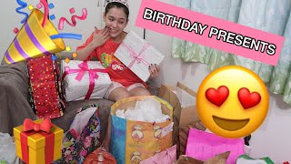 UNBOXING BIRTHDAY PRESENTS | Jackie Gonzaga