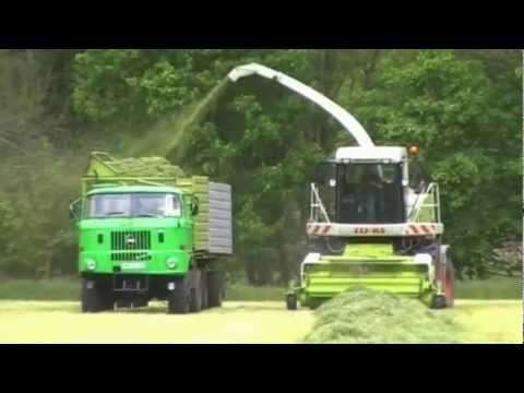 IFA Power und Claas Jaguar in der Kleegrassilage