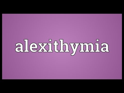 Header of Alexithymia