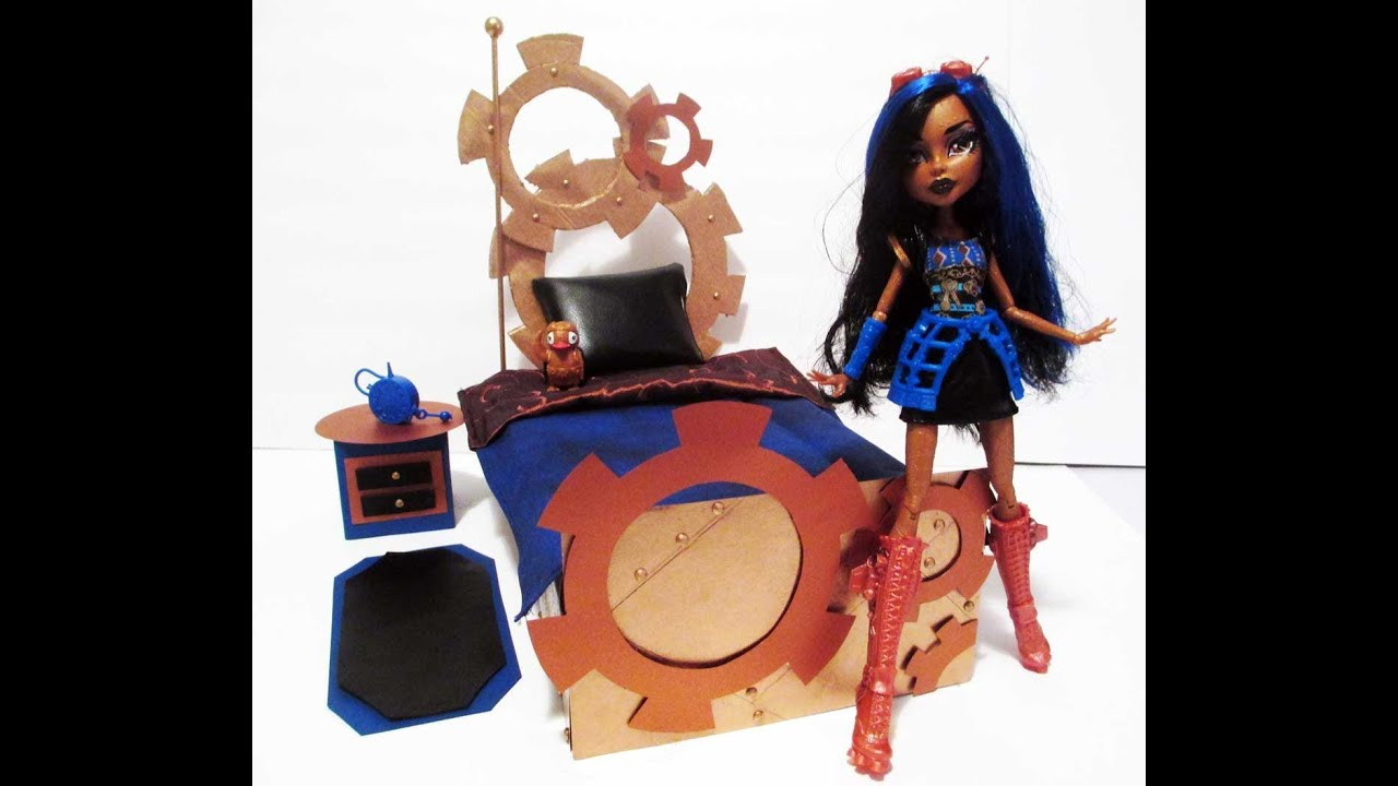 How to make a robecca steam doll bed tutorial monster high for How to make a high bed