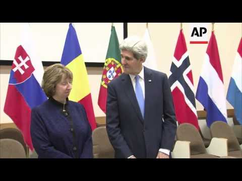 John Kerry and Catherine Ashton hold meeting on edge of NATO summit, comment on Iran