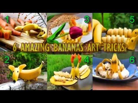 見た目が華やかなバナナアートトリック!子供が喜ぶ事間違いなし♪