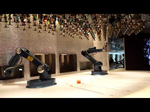 Robot bartenders on the Royal Caribbean Anthem of the Seas cruise ship – ShinyShiny