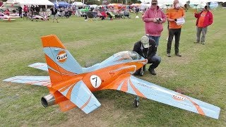 """GIANT 1:2.8 SCALE RC VIPERJET XXL """"GULF RACING"""" TOMAHAWK DESIGN - GEOFF AT SOUTHERN HEADCORN - 2018"""