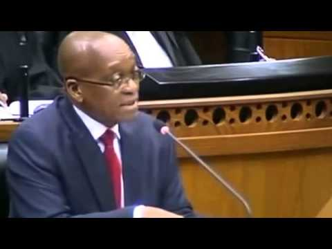 Pay Back The Money - says Julius Malema of EFF in Parliament asking Pres Zuma on Nkandla
