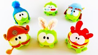 On Nom (Cut The Rope) Plush Toy Сollection Review. Toys for Kids