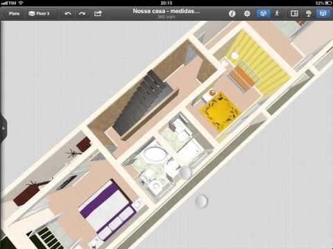 Projeto casa 3d, sobrado 5x25