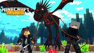 Minecraft DRAGONS - MY DEADLY LAVA NADDER ASH HAS BEEN CAPTURED!!