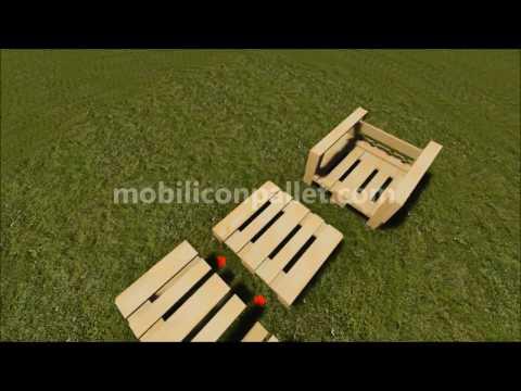 Poltrona da giardino in pallet