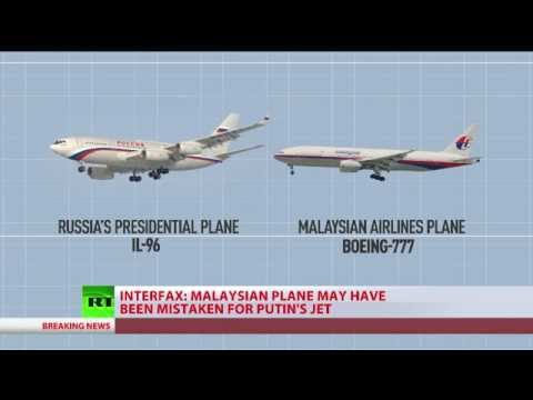 Malaysian Airlines MH17 plane traveling same route as Putin's jet