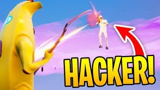 I Found A HACKER In Fortnite Playground Fills... (HE WAS INVINCIBLE)