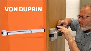 How to Install the Von Duprin 22 Exit Device