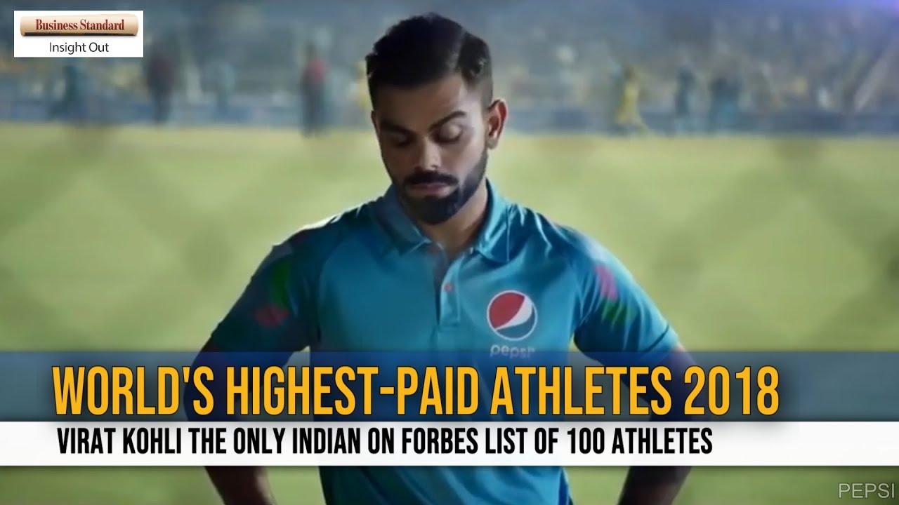 'World's Highest-Paid Athletes 2018': Virat Kohli the only Indian on Forbes list  of 100 athletes