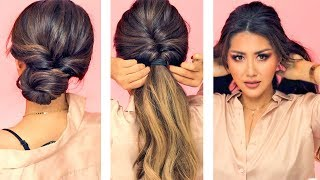 ★ 1-MIN EVERYDAY HAIRSTYLES for WORK! 💗  WITH PUFF 💗  EASY BRAIDS & UPDO for Long 💗 Medium HAIR