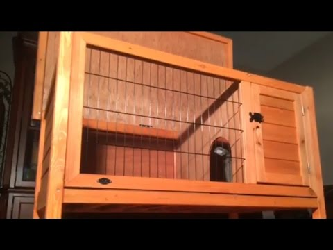 Trixie: 1-Story Rabbit Hutch Un-Boxing/Review!