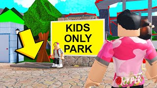 This Was A KIDS ONLY Park.. I Found ADULTS Trapped In The Sewers! (Roblox Bloxburg)