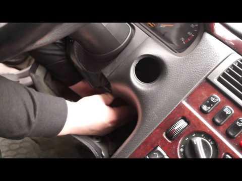 Ремонт, Мерседес W 210, Снятие замка зажигания.