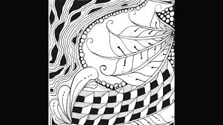 Weekly Zentangle® Tangle Video-FINERY-May 25-31, 2015