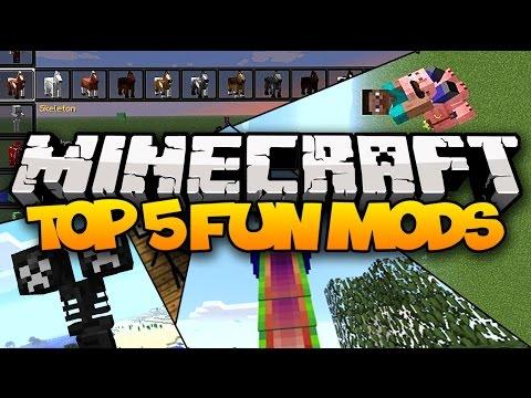 TOP 5 FUN MINECRAFT MODS Fun Weird Wacky Mods 2014 HD