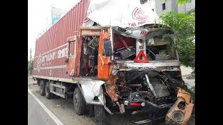 A JAC Truck after accident in Bangladesh