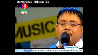 mesbah ahmed live on Bangla Vision phono live studion concert  Music Club 08 06 2016