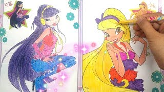 """Children's Toys ❤ Coloring for Winx """"MUSA AND STELLA"""" Winx Club Coloring"""