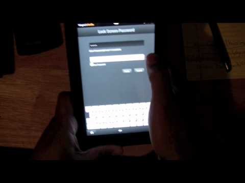 Kindle Fire-Set Password Lock