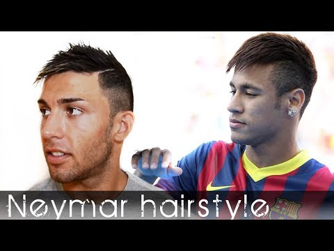 Neymar Footballer men's hair tutorial  2013 By Vilain Silverfox high hold