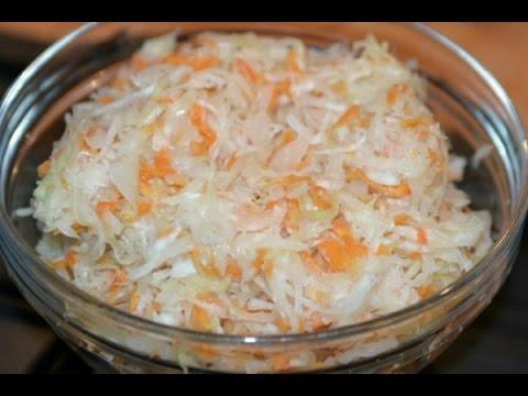 Как правильно приготовить сочную и вкусную квашенную капусту.