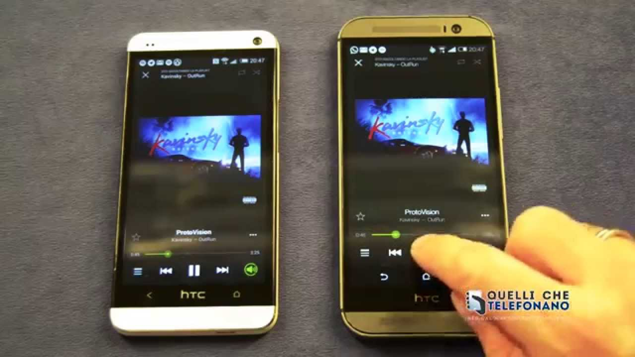 Audio Htc One m8 Htc One m7 vs Htc One m8