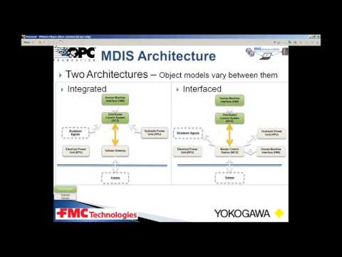 Interoperability for Oil & Gas: OPC UA and OffShore platforms MDIS