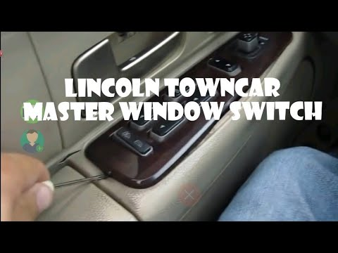 How to replace Lincoln Towncar window switch (drivers side)