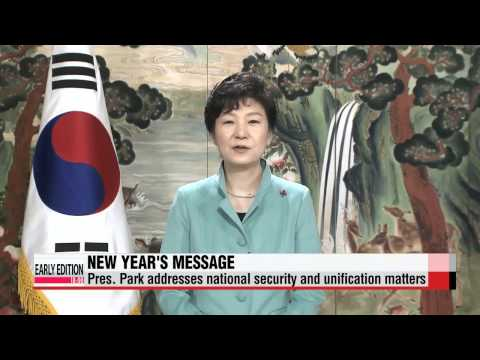 President Park Geun-hye puts emphasis on unification, economy in New Year′s mess