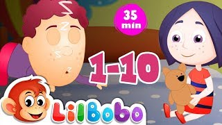 Number Songs: Ten in the Bed | Little BoBo Nursery Rhymes by FlickBox Kids