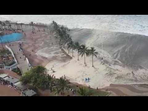 Japan Tsunami Caught On Camera | Ocean Overtops Wall