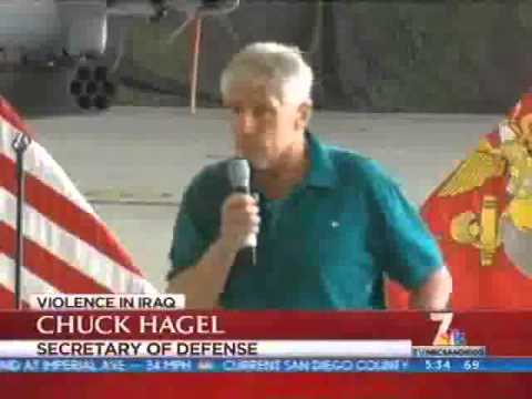 NBC- Secretary of Defense Chuck Hagel visits MCB Camp Pendleton