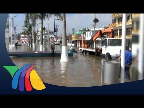 Lluvias provocan desbordamientos de ríos en Veracruz